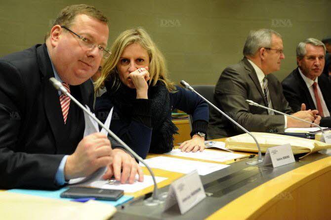 Jean-Luc Warsmann et Valérie Debord, au deuxième plan, Philippe Richert (Photo DNA)