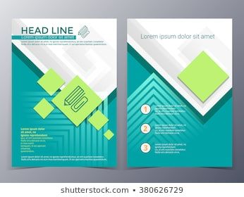 business and technology brochure design template vector in A4 size for use as company annual report, poster,flyer