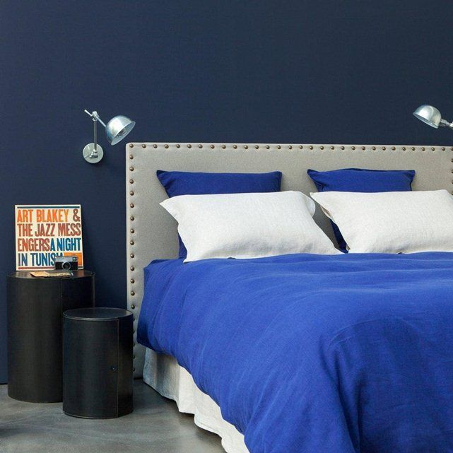 t te de lit yliana 3 tailles am pm le bleu decodeuse pinterest. Black Bedroom Furniture Sets. Home Design Ideas