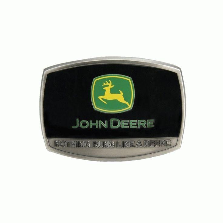 """John Deere """"Nothing Runs Like A Deere"""" Belt Buckle"""