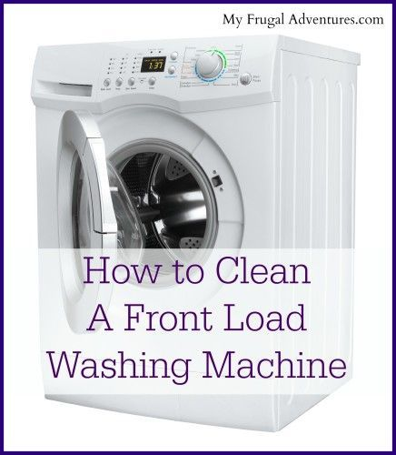 how to clean a front load washing machine front load washer beautiful days and frugal. Black Bedroom Furniture Sets. Home Design Ideas