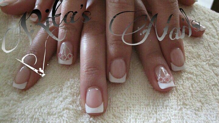 Gel French nail art