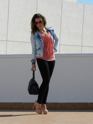 RevEnMiBaul Outfit   Primavera 2012. Combinar Chaqueta-Cazadora Azul cielo Zara, Cómo vestirse y combinar según RevEnMiBaul el 29-4-2012