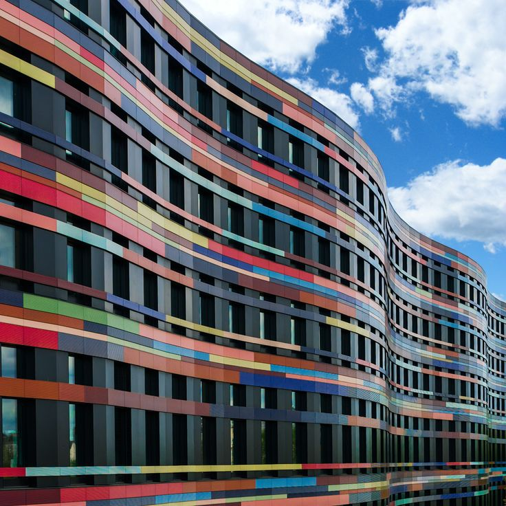 Colorful Architecture of a Colorful Building in Hamburg
