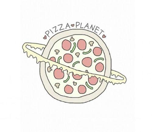 el planeta de la pizza... un planeta donde todos los amantes de la pzza estan locos por ir