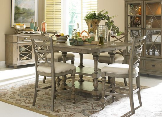 This havertys Lakeview Dining Table is sure to give your dinner