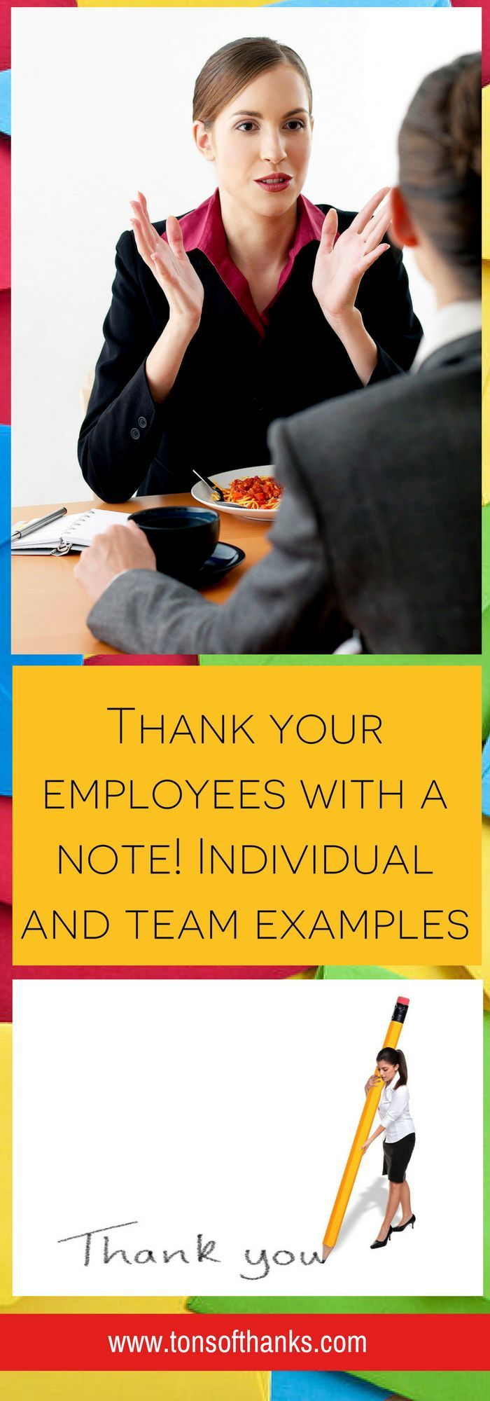 Send your employees a thank you message