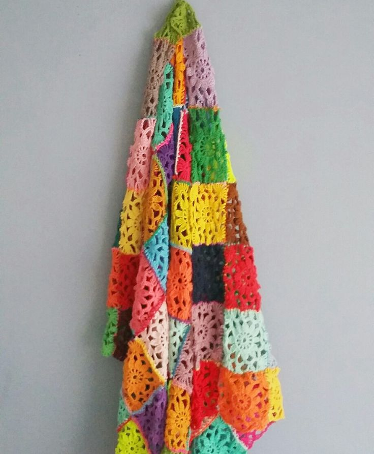 Colorful crochet blanket design by puurcreatief