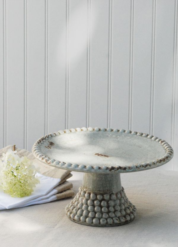Merino Beaded Cake Stand.  Imagine a cake on this.  Super cute!