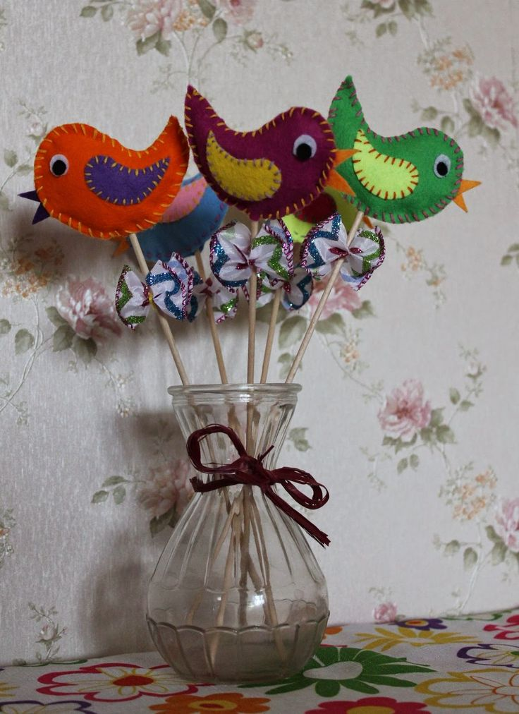 Violett Handmade: Wiosenne ptaszki
