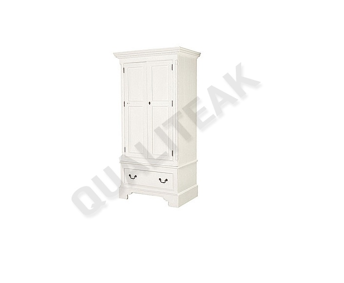Please contacts us for asking detail about Georgian White Single Wardrobe