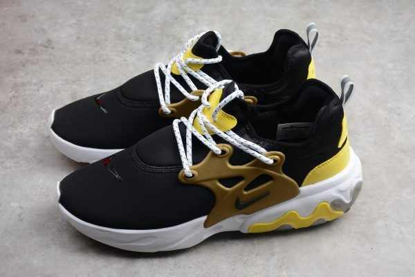 ba050f817203 Nike Presto React Black Yellow White Metallic Gold For Sale-2