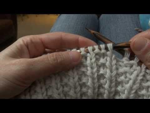 [vidéo] Tricoter en point de sillon aux aiguilles circulaires