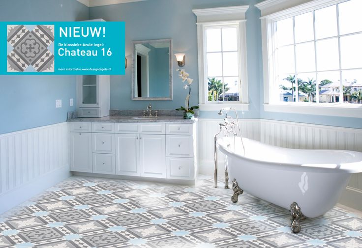 Chateau 16, New design! Bathroom Cementtiles