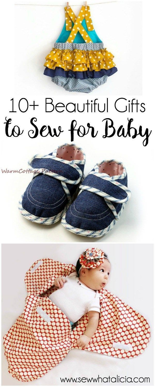 10+ Beautiful Gifts to Sew for Baby: Nothing is sweeter than sewing a handmade gift for a baby shower or new baby. Here are some adorable patterns for gifts to sew for baby. Click through for a full collection of patterns. | http://www.sewwhatalicia.com