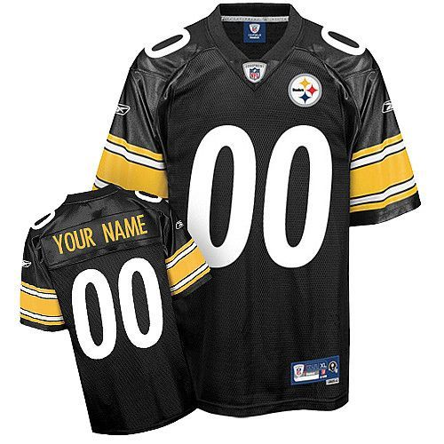 3644220ca Steelers Personalized Authentic Black NFL Jersey (S-3XL)