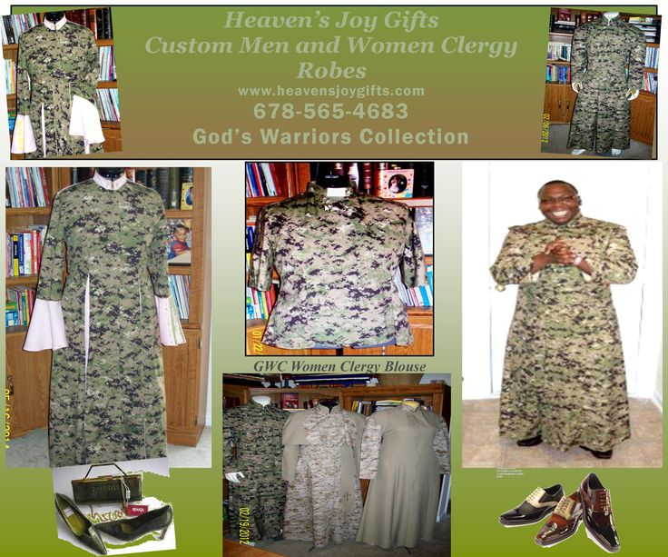 Custom Clergy Robes Very Nice Quality One of A Kind Custom Men and Women Clergy Robes at A Reasonable Price, please contact me at credes27@bellsouth.net, credes27@heavensjoygifts.com and 678-565-4683.  You may see many products at www.heavensjoygifts.com.