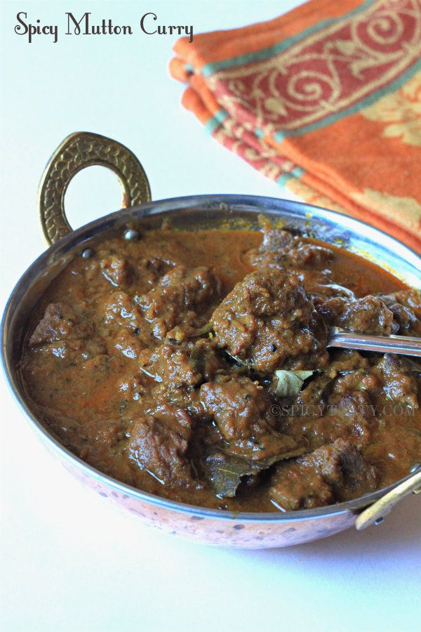 Spicy Mutton Curry Ingredients: Mutton:500gm Onion : 2 Tomatoes : 2 Ginger& Garlic Paste : 3 tbsp Oil : 5 tbsp Cinnamon stick : 1 inch Cloves : 3 Bay leaves : 2 Fennel seeds : 1 tbsp Turmeric Powder: 1tsp Curry leaves : 6 to 8 Red Chili Powder : 1/2 tbsp Coriander powder : 1 tbsp Black Pepper : 2 to 3 tbsp ( according to your spice level) Coriander leaves : few ( for garnishing)
