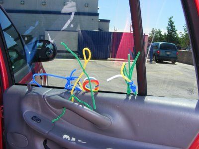 Pipe cleaners for fidgets for the kids to play with in the back of the car while on a road trip.