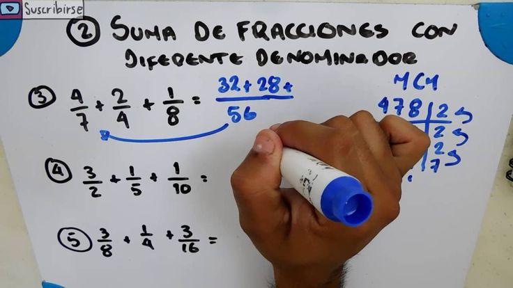 SUMA DE FRACCIONES CON DIFERENTE DENOMINADOR | EJERCICIOS | FRACCIONES