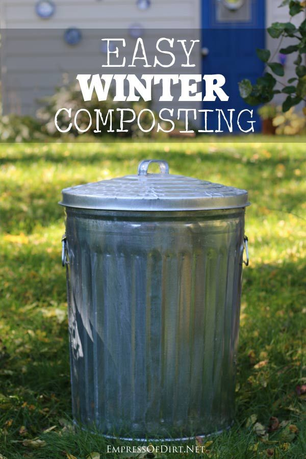 Easy Winter Composting - a smart, time-saving method | empressofdirt.net