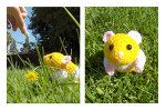 Hamster Amigurumi by ~Sparrow-dream on deviantART. Cutest hamster ever; making it for the Tiny Tornado