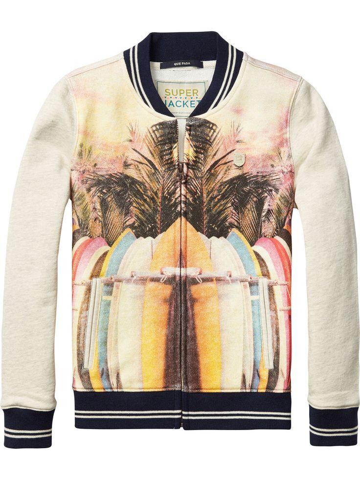 tropical varsity jacket for boys from scotch shrunk