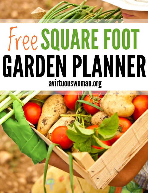 Printable Square Foot Garden Planner -- this simple planner will help you organize your garden this year! @ AVirtuousWoman.org