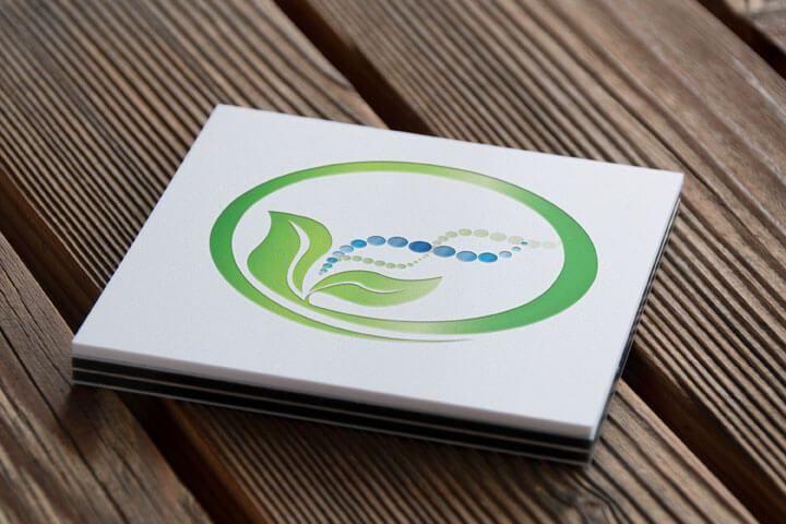 homeopathy logo, health logo, logo with leaf, dna logo, green logo