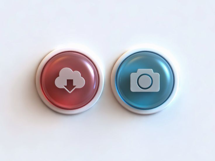 Glass Buttons - by Webshocker | #ui