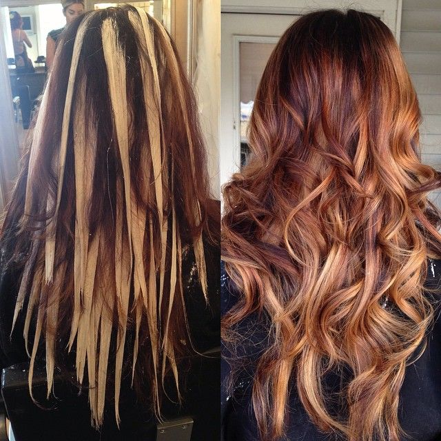 red hair with blonde balayage red and blonde hair color hair balyage ...
