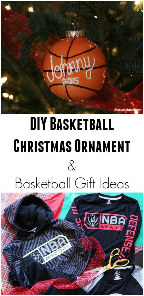 Make This Super Cool DIY Basketball Christmas Ornament And