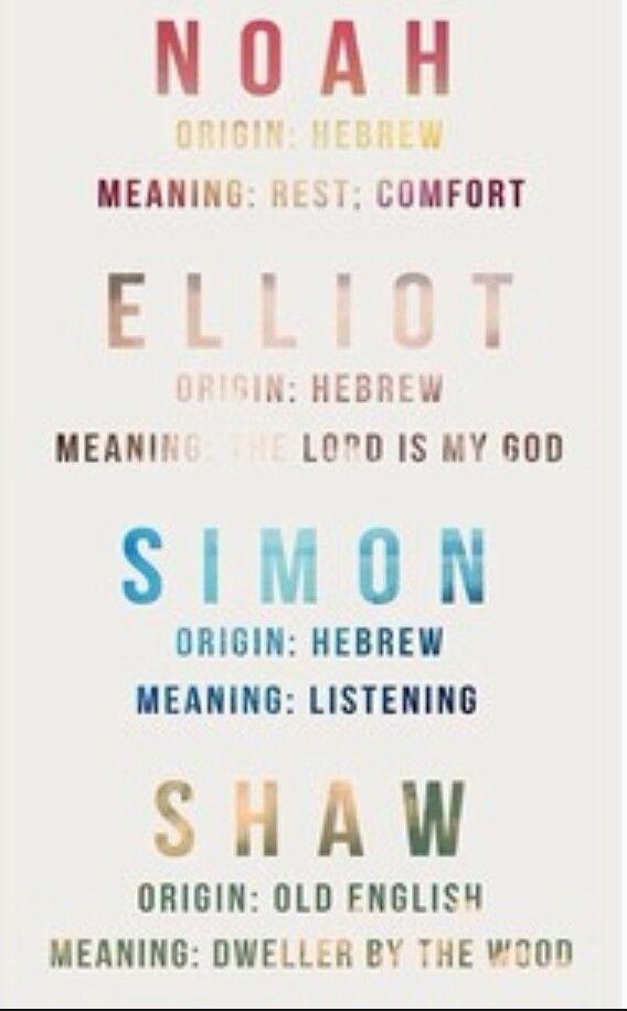 Noah Elliot Simon Shaw