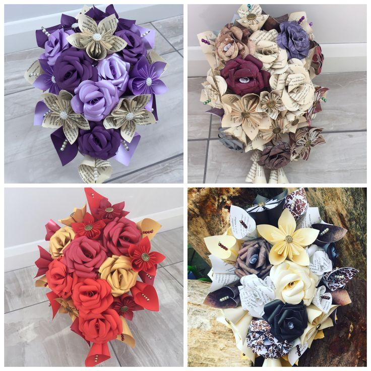 A personal favourite from my Etsy shop https://www.etsy.com/uk/listing/533425259/paper-flower-bridal-bouquet-paper-flower