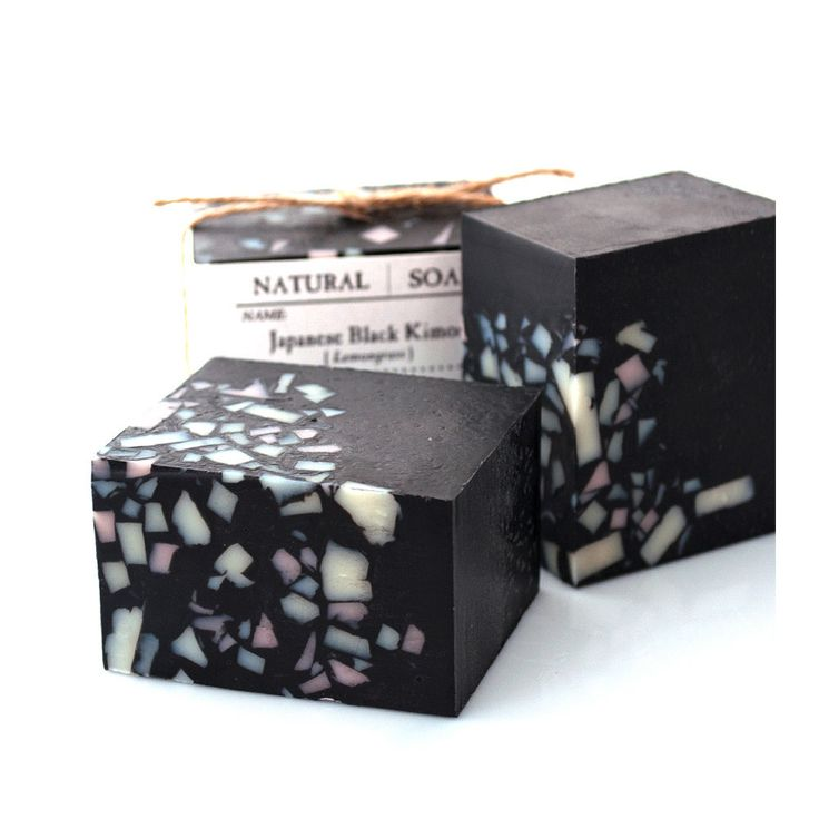 "Tokyo Factory | Japanese Black Kimono This soap contains Takesumi which means ""Bamboo Charcoal"" in English. Bamboo Charcoal powder is known to clean skin pores deeply and clean body odor. Our Charcoal Soaps have a deep black color, and we use pure Bamboo Charcoal powder from Japan. We also use Organic Shea Butter to make our soap luxurious and special"