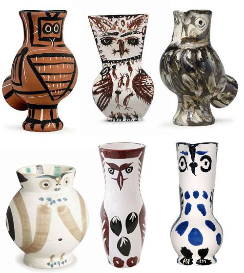 Pablo Picasso and Owl Vases