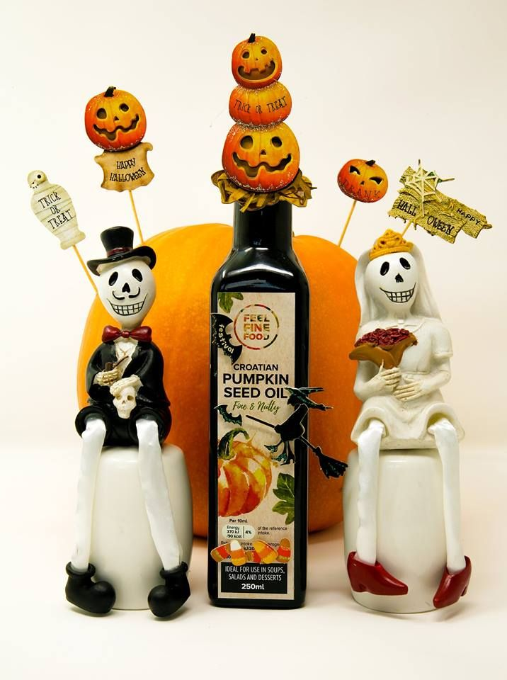 **Facebook Halloween GIVEAWAY** Halloween wasn't always so scary! It used to be about finding true love ♥ That's why we decided to give our LOVE to you this Halloween and to GIVEAWAY 3 bottles of our Croatian Pumpkin Seed Oil!!  Visit our Facebook page for more info!