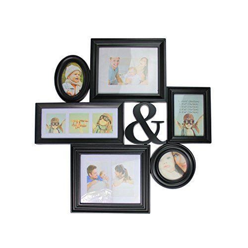 Felices Pascuas Collection 27.75 inch Black Multi-Sized Photo Picture Frame Collage Wall Decoration