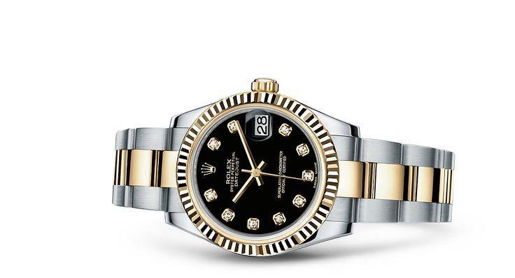Entdecken Sie die Datejust 31 Uhr in Rolesor gelb (Kombination aus Edelstahl904L und 18KaratGelbgold) auf der offiziellen Website von Rolex. Modell:  178273