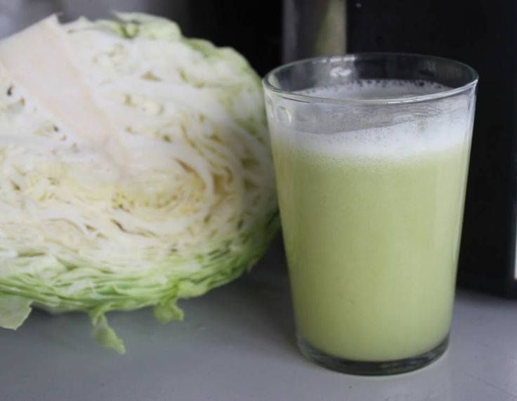 The Ulcer Reliever Juice.  Cabbage has been known to relieve stomach pain and ulcers... Ingredients: 1/2 cabbage, 1 Apple, Handful of Kale, 2 stalks celery, 1/2 cucumber, 3 carrots, 1/2 lemon.