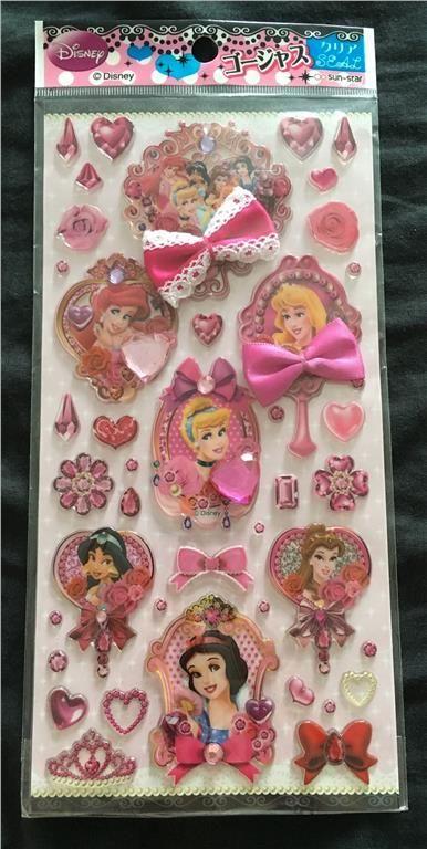 Disney Princess prinsessor stickers klistermärken Japan