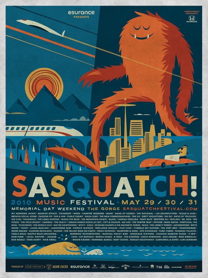 You'd better tell 'em it was Sasquatch, they won't know which friend you're talking about...