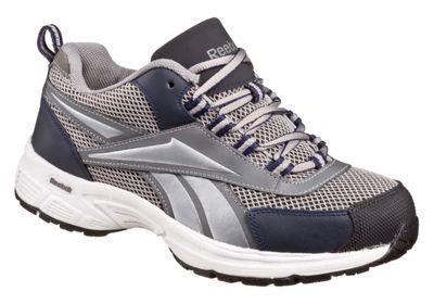 Reebok Kenoy Steel Toe Work Shoes for Men - Gray/Navy - 10.5 M