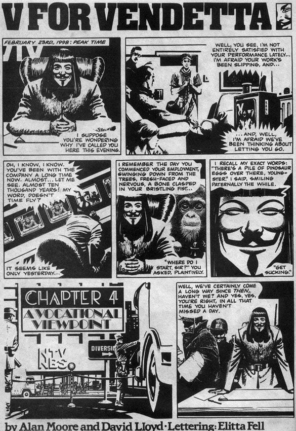 The Original V For Vendetta Speech (Graphic Novel), page 1