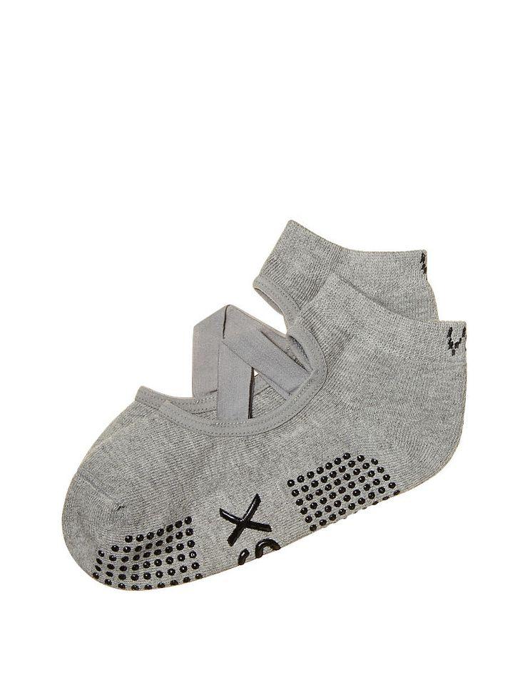 No-slip Socks in Heather Grey $14.50- Victoria's Secret Sport - Victoria's Secret