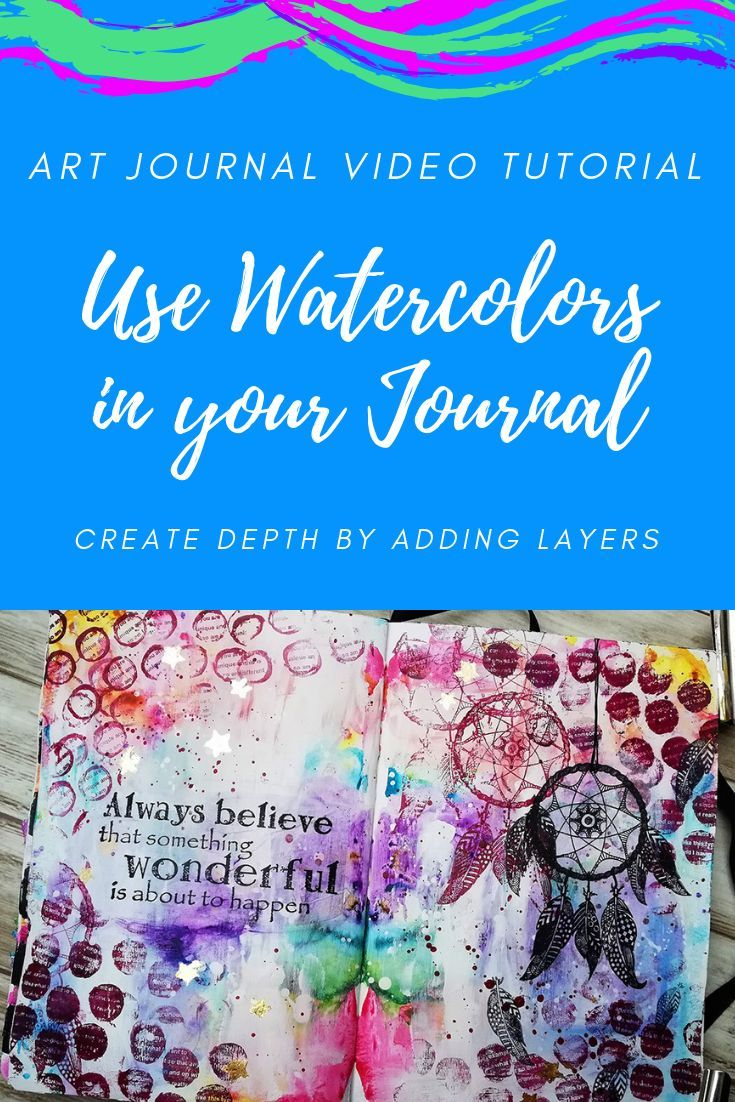 Great Way To Use Watercolors In Your Art Journal This Background
