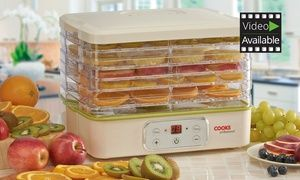 Preserve and dehydrate a whole range of various foods with this capacious, professional, six-tier dehydrator by Cooks