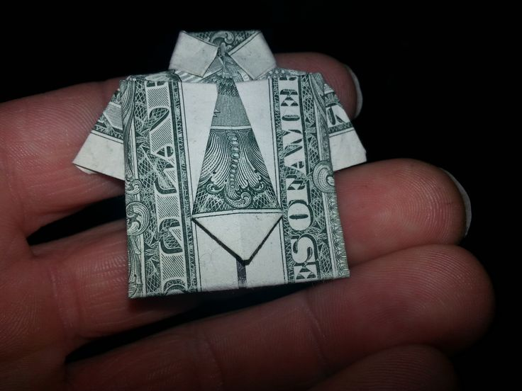 How to make Dollar Bill Origami Shirt and Tie