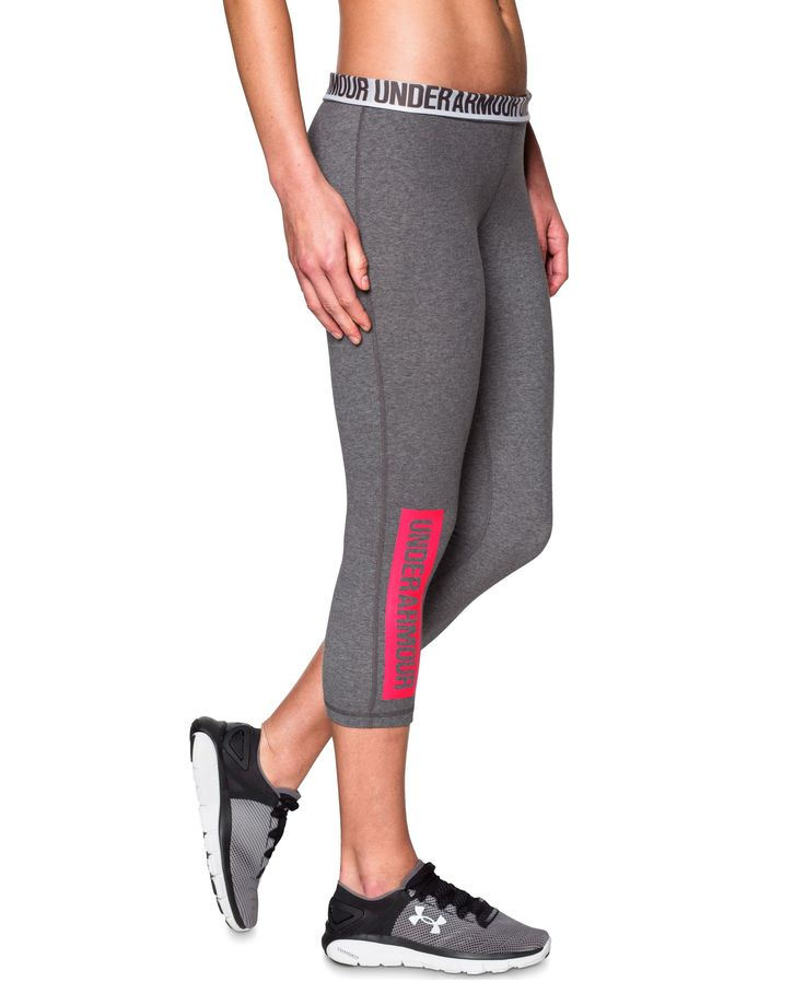 Under Armour delivers soft comfort and athletic style in these Favorite capri leggings. | Cotton/polyester/elastane | Machine washable | Imported | Mid rise | Skinny fit through hips and thighs  | Ski
