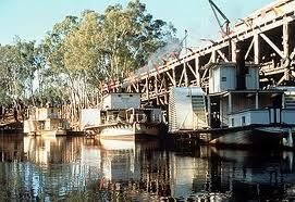 Paddle steamers at Echuca wharf, Victoria